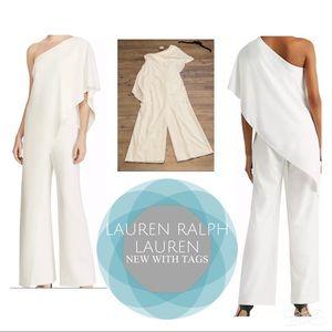 Lauren Ralph Lauren Tiered One Shoulder Jumpsuit